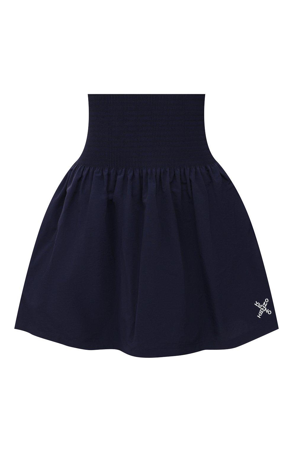 Женская юбка kenzo sport KENZO темно-синего цвета, арт. FB52JU1489C0   Фото 1