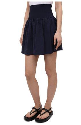 Женская юбка kenzo sport KENZO темно-синего цвета, арт. FB52JU1489C0   Фото 3