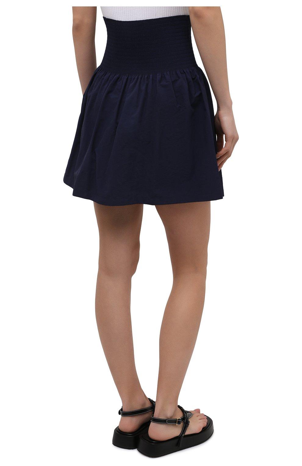 Женская юбка kenzo sport KENZO темно-синего цвета, арт. FB52JU1489C0   Фото 4