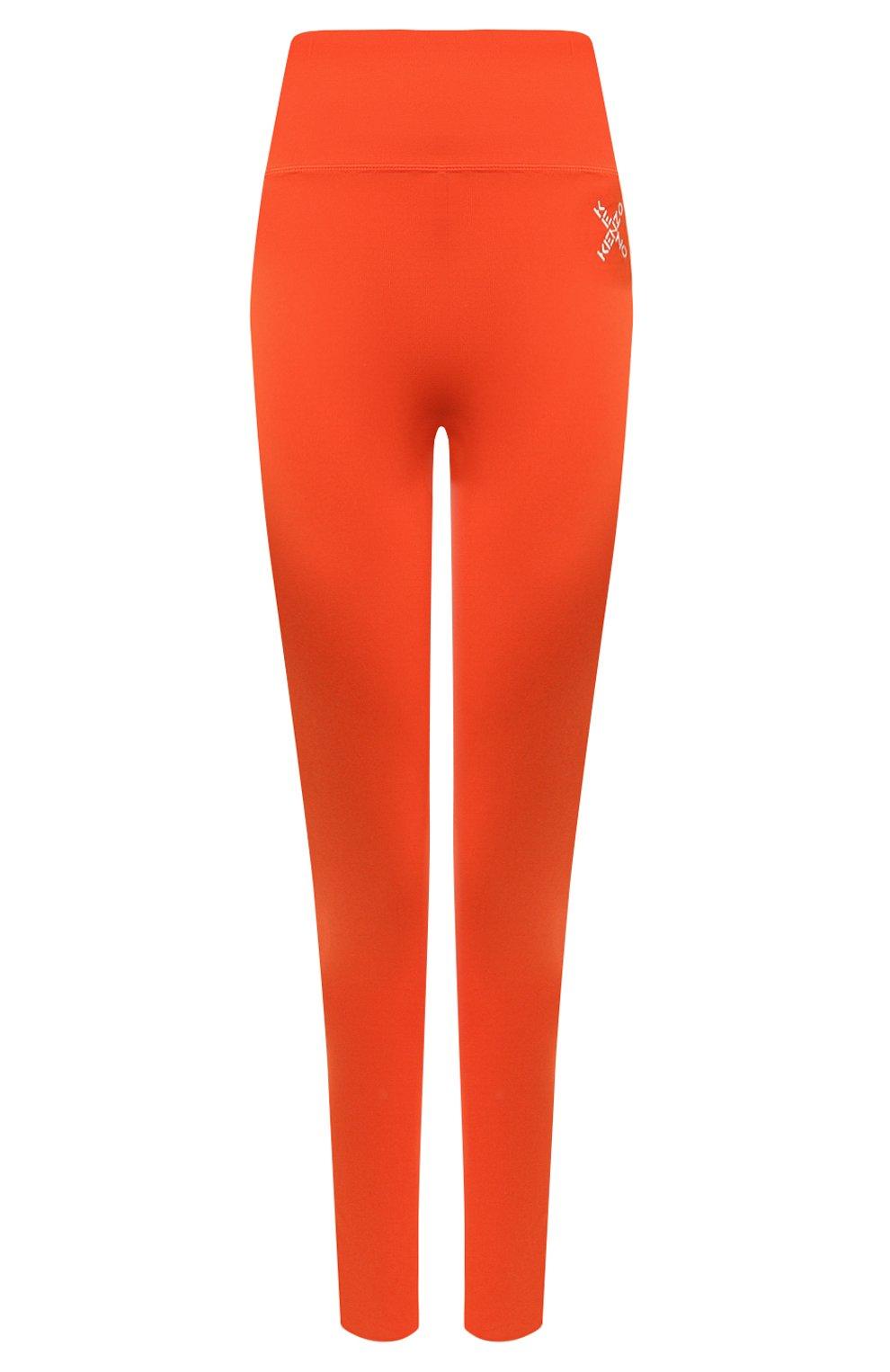 Женские леггинсы kenzo sport KENZO оранжевого цвета, арт. FA62PA7294SC   Фото 1 (Длина (брюки, джинсы): Стандартные; Материал внешний: Синтетический материал; Стили: Спорт-шик; Женское Кросс-КТ: Леггинсы-спорт)