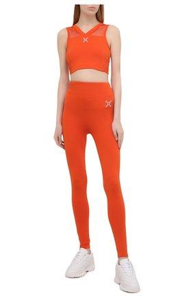 Женские леггинсы kenzo sport KENZO оранжевого цвета, арт. FA62PA7294SC | Фото 2