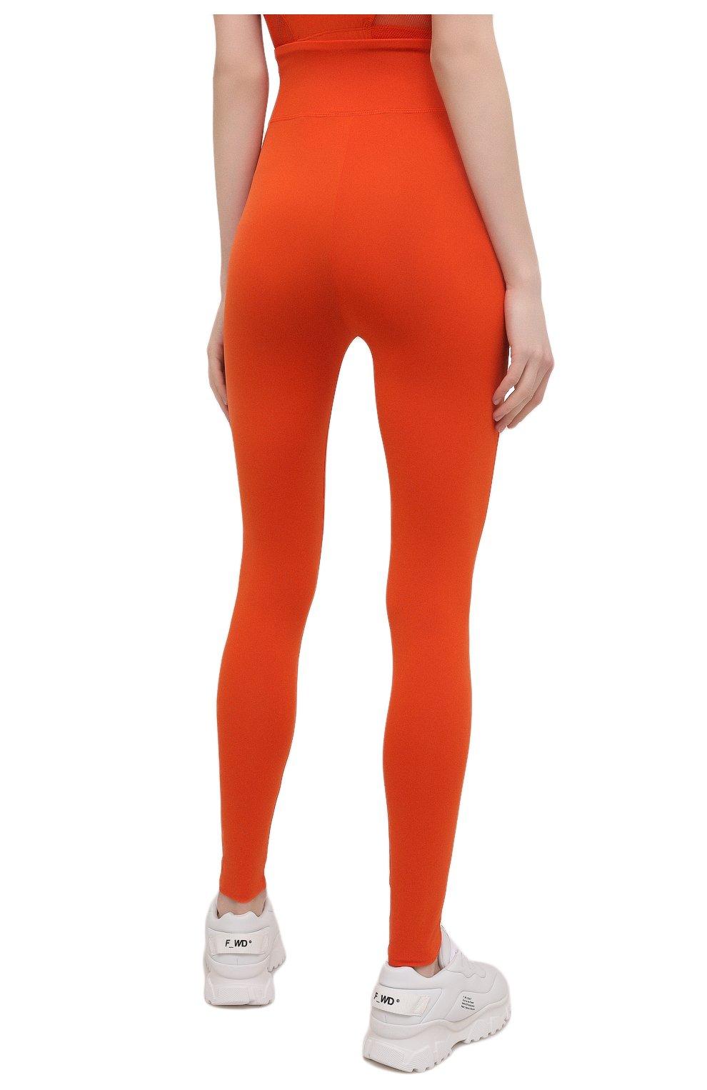 Женские леггинсы kenzo sport KENZO оранжевого цвета, арт. FA62PA7294SC   Фото 4 (Длина (брюки, джинсы): Стандартные; Материал внешний: Синтетический материал; Стили: Спорт-шик; Женское Кросс-КТ: Леггинсы-спорт)