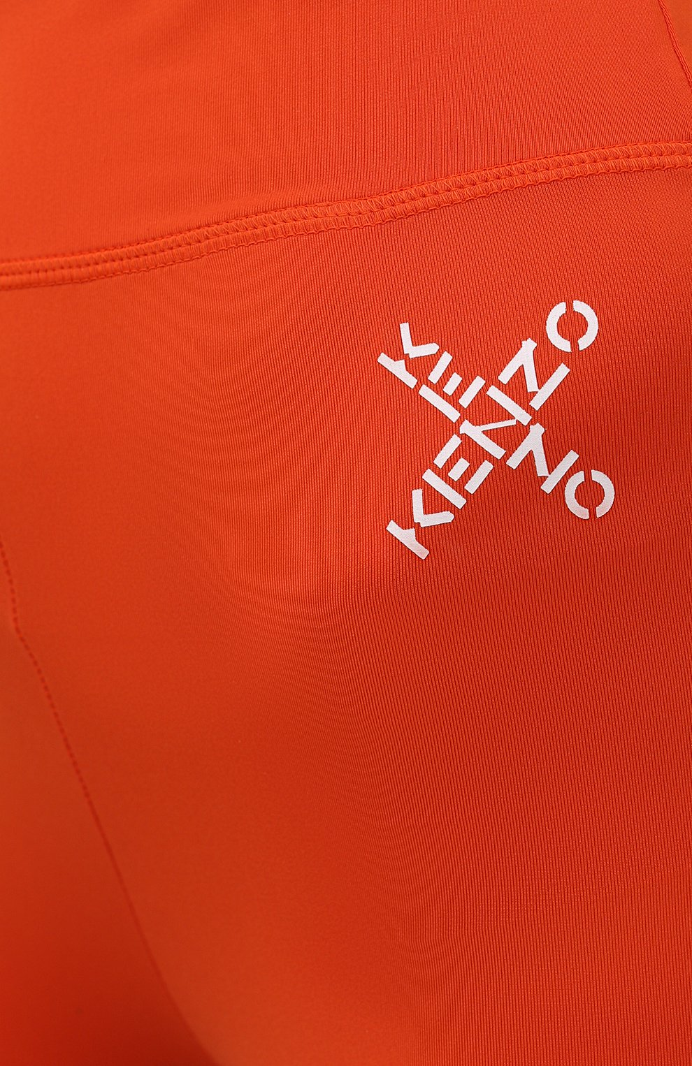 Женские леггинсы kenzo sport KENZO оранжевого цвета, арт. FA62PA7294SC   Фото 5 (Длина (брюки, джинсы): Стандартные; Материал внешний: Синтетический материал; Стили: Спорт-шик; Женское Кросс-КТ: Леггинсы-спорт)