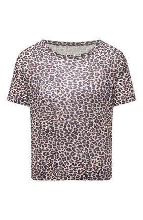 Женская льняная футболка ZADIG&VOLTAIRE леопардового цвета, арт. SKTP1802F | Фото 1