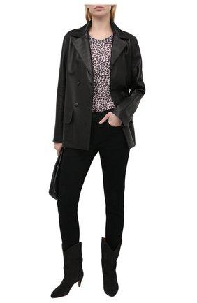 Женская льняная футболка ZADIG&VOLTAIRE леопардового цвета, арт. SKTP1802F | Фото 2