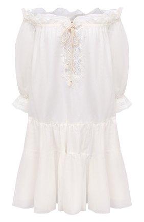 Женское хлопковое платье ERMANNO SCERVINO белого цвета, арт. D384K305MUL | Фото 1