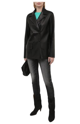 Женские джинсы MOUSSY черного цвета, арт. 025ESC12-2500 | Фото 2