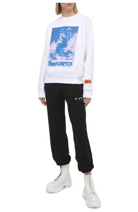 Женский хлопковый свитшот HERON PRESTON белого цвета, арт. HWBA007R21JER0020140 | Фото 2