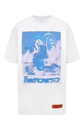 Женская хлопковая футболка HERON PRESTON белого цвета, арт. HWAA023R21JER0030140 | Фото 1