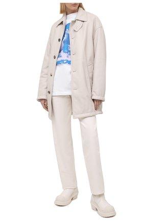 Женская хлопковая футболка HERON PRESTON белого цвета, арт. HWAA023R21JER0030140 | Фото 2