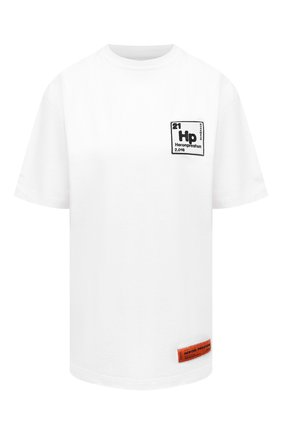Женская хлопковая футболка HERON PRESTON белого цвета, арт. HWAA023R21JER0020110 | Фото 1