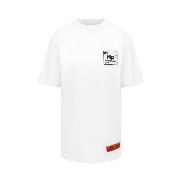 Хлопковая футболка Heron Preston