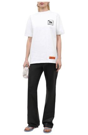 Женская хлопковая футболка HERON PRESTON белого цвета, арт. HWAA023R21JER0020110 | Фото 2