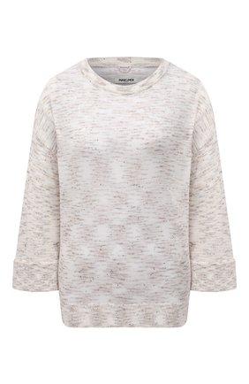 Женский пуловер из хлопка и льна MAX&MOI бежевого цвета, арт. E21PA0LINE | Фото 1