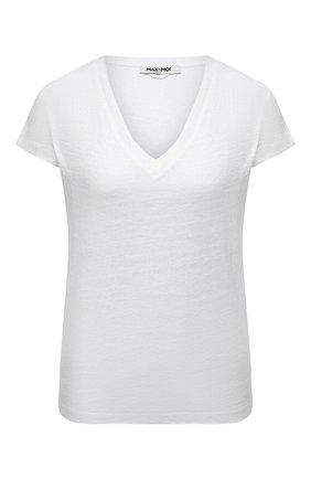 Женская льняная футболка MAX&MOI белого цвета, арт. PERT0KY0 | Фото 1