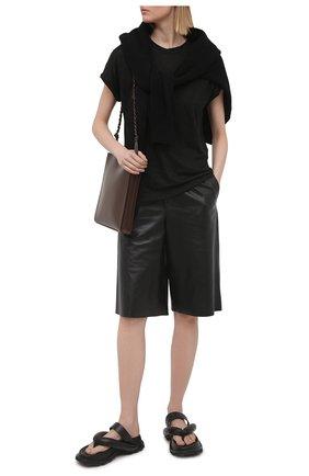Женская льняная футболка MAX&MOI черного цвета, арт. PERTAIWAN | Фото 2