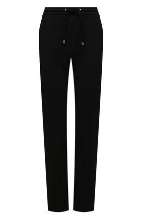 Женские хлопковые брюки GIORGIO ARMANI черного цвета, арт. 3KAP55/AJZGZ | Фото 1