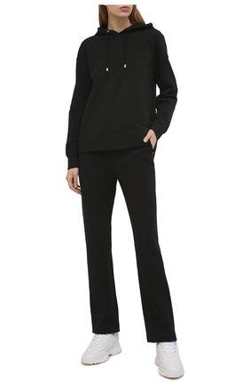 Женские хлопковые брюки GIORGIO ARMANI черного цвета, арт. 3KAP55/AJZGZ | Фото 2