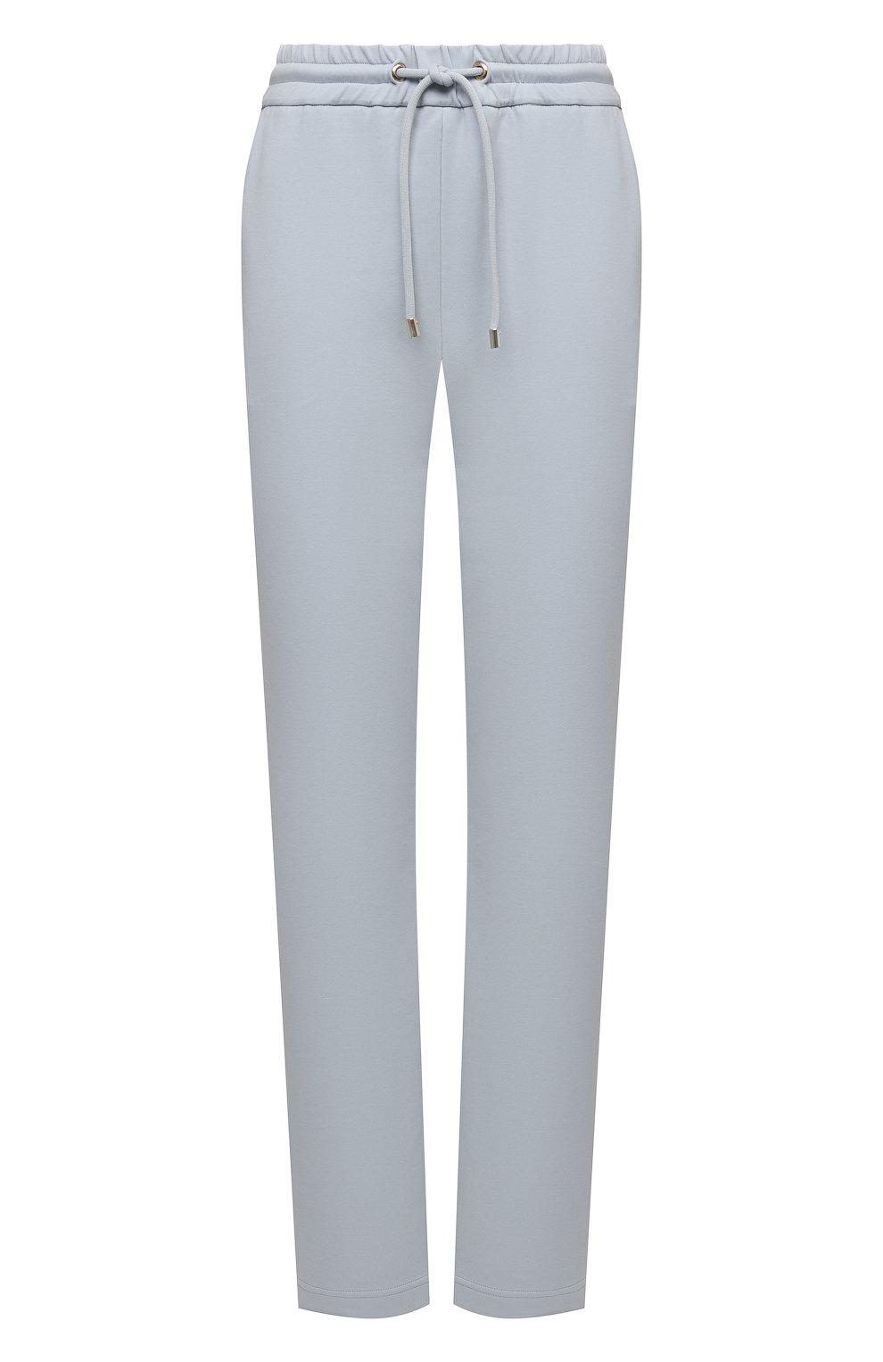Женские хлопковые брюки GIORGIO ARMANI голубого цвета, арт. 3KAP55/AJZGZ | Фото 1