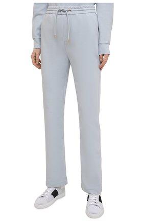 Женские хлопковые брюки GIORGIO ARMANI голубого цвета, арт. 3KAP55/AJZGZ | Фото 3