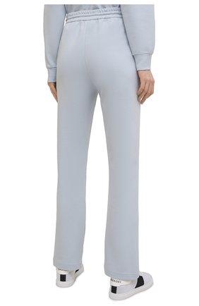 Женские хлопковые брюки GIORGIO ARMANI голубого цвета, арт. 3KAP55/AJZGZ | Фото 4