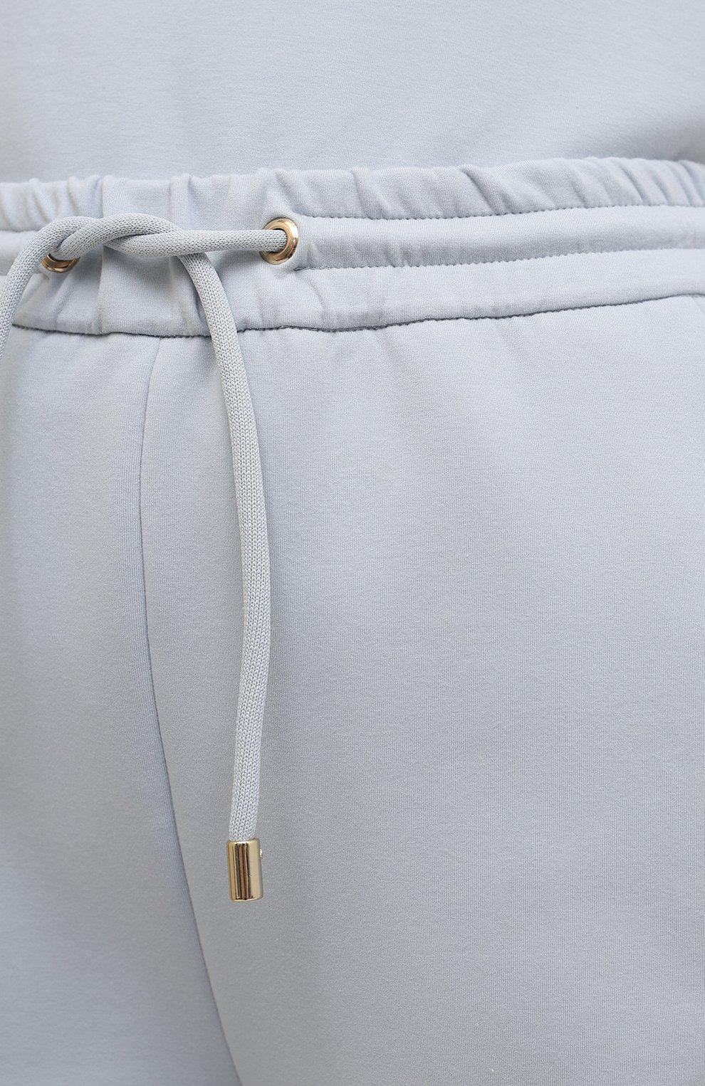 Женские хлопковые брюки GIORGIO ARMANI голубого цвета, арт. 3KAP55/AJZGZ | Фото 5