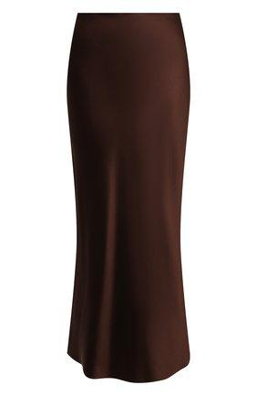 Женская шелковая юбка RALPH LAUREN коричневого цвета, арт. 290840893   Фото 1