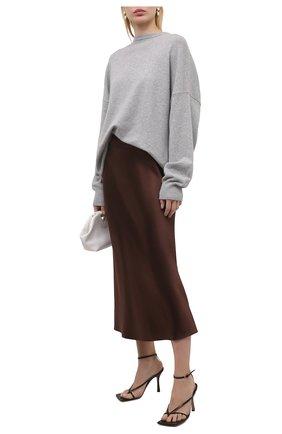 Женская шелковая юбка RALPH LAUREN коричневого цвета, арт. 290840893   Фото 2