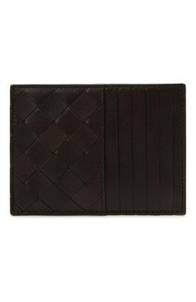 Женский кожаный футляр для кредитных карт BOTTEGA VENETA темно-коричневого цвета, арт. 635043/VCPP3   Фото 1