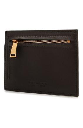 Женский кожаный футляр для кредитных карт BOTTEGA VENETA темно-коричневого цвета, арт. 635043/VCPP3   Фото 2