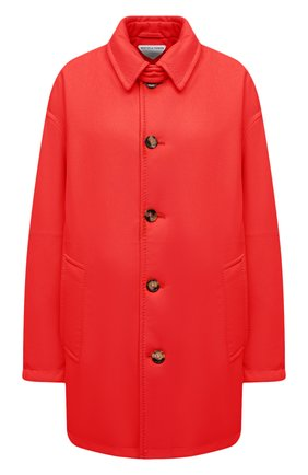Женское кожаное пальто BOTTEGA VENETA красного цвета, арт. 655939/V0Q60 | Фото 1