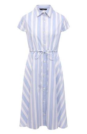Женское хлопковое платье PIETRO BRUNELLI голубого цвета, арт. AG0458/C0FAST/4671 | Фото 1