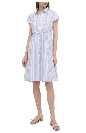 Женское хлопковое платье PIETRO BRUNELLI голубого цвета, арт. AG0458/C0FAST/4671 | Фото 2