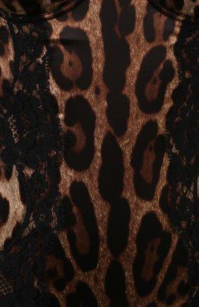 Женское шелковое боди DOLCE & GABBANA леопардового цвета, арт. 09A05T/FSAXY | Фото 4