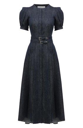 Женское льняное платье GABRIELA HEARST синего цвета, арт. 321416 LI003   Фото 1