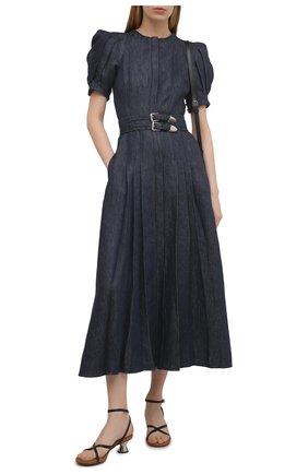 Женское льняное платье GABRIELA HEARST синего цвета, арт. 321416 LI003   Фото 2