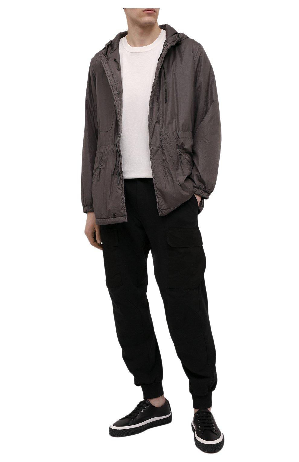 Мужские кожаные кеды SALVATORE FERRAGAMO черного цвета, арт. Z-07284373E   Фото 2 (Подошва: Плоская)