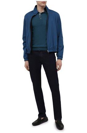 Мужские кожаные мокасины BOSS черного цвета, арт. 50447902 | Фото 2 (Стили: Кэжуэл)