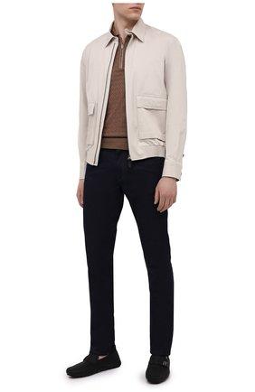 Мужские кожаные мокасины SALVATORE FERRAGAMO черного цвета, арт. Z-07365473E   Фото 2
