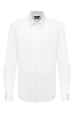 Мужская хлопковая сорочка BOSS белого цвета, арт. 50440276 | Фото 1
