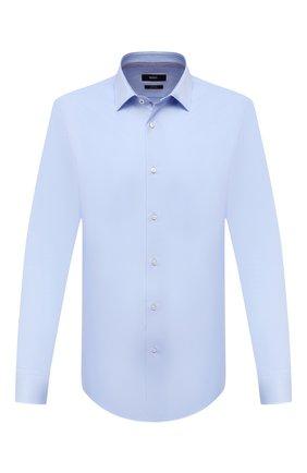 Мужская хлопковая сорочка BOSS голубого цвета, арт. 50451092   Фото 1