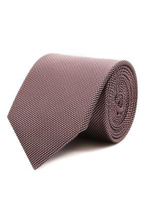 Мужской шелковый галстук BOSS розового цвета, арт. 50452059 | Фото 1