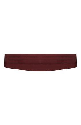 Мужской шелковый камербанд CORNELIANI бордового цвета, арт. 87U317-1120300/00 | Фото 1