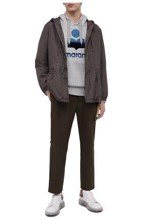 Мужской хлопковое худи ISABEL MARANT серого цвета, арт. SW0055-21P029H/MILEY | Фото 2