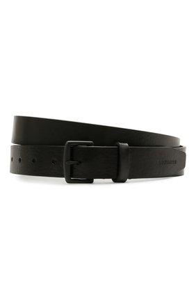 Мужской кожаный ремень DSQUARED2 черного цвета, арт. BEM0004 12900001 | Фото 1