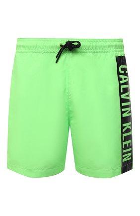 Мужские плавки-шорты CALVIN KLEIN светло-зеленого цвета, арт. KM0KM00542 | Фото 1