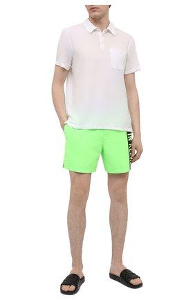 Мужские плавки-шорты CALVIN KLEIN светло-зеленого цвета, арт. KM0KM00542 | Фото 2