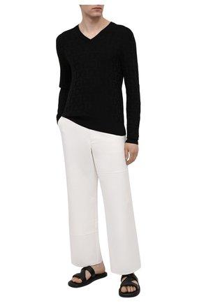 Мужской шелковый пуловер DOLCE & GABBANA черного цвета, арт. GXE25T/JAS0L | Фото 2