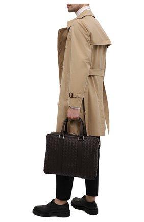 Мужская кожаная сумка для ноутбука BOTTEGA VENETA темно-коричневого цвета, арт. 650372/V0E51 | Фото 2
