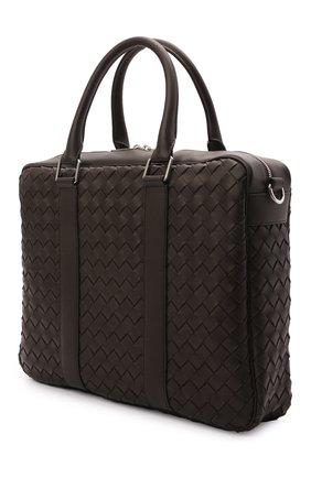 Мужская кожаная сумка для ноутбука BOTTEGA VENETA темно-коричневого цвета, арт. 650372/V0E51 | Фото 3
